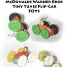 TWO (2) McDonalds Warner Bros Tiny Tunes Flip-Car =