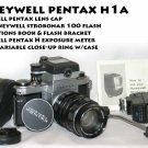 Pentax (Honeywell) H1a Pentax Meter,  Strobonar 100 flash & flash bracket, zoom close-up ring