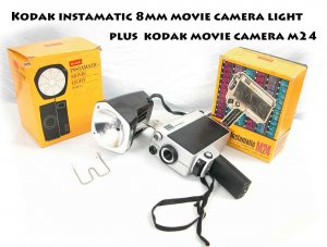Vintage Kodak Movie Camera m24 and MOVIE CAMERA LIGHT MODEL 2