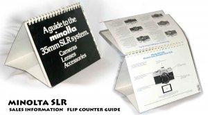 Minolta SLR sales information Flip counter guide