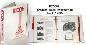 RICOH product sales information book 1980s
