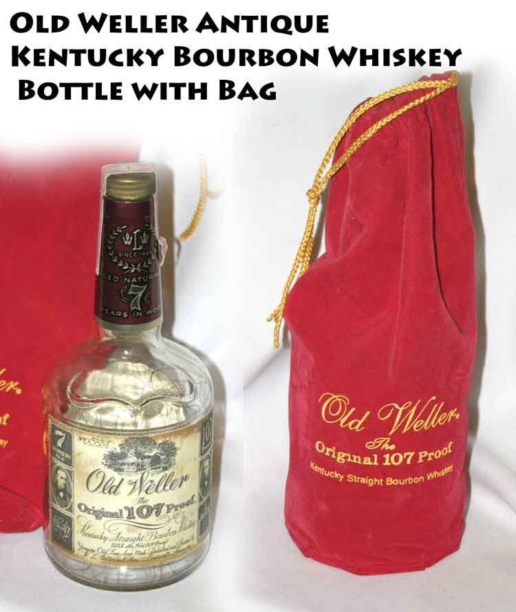 !SOLD! Old Weller Antique Kentucky Bourbon Whiskey Bottle wIth Bag -