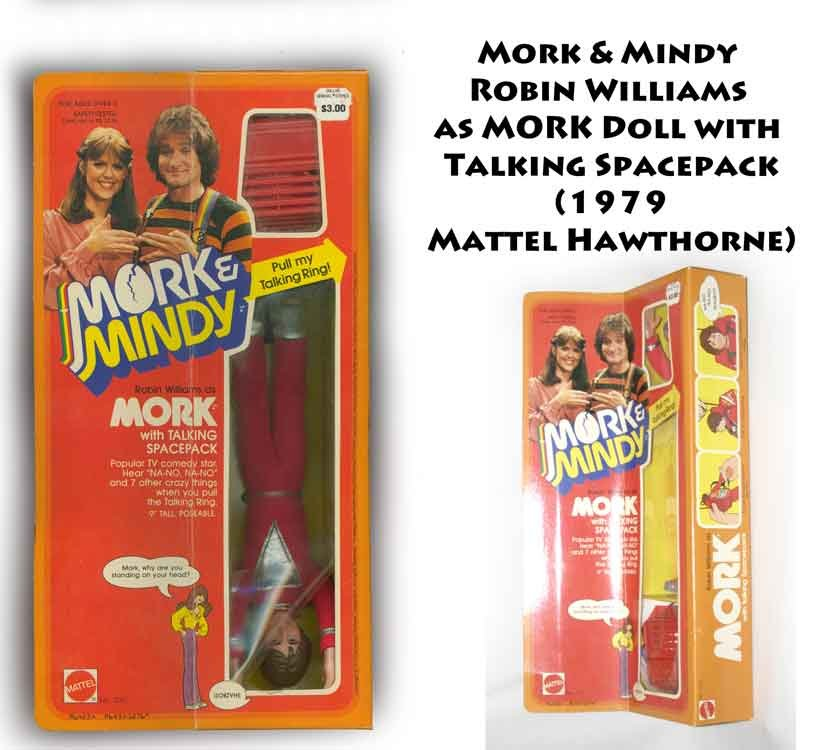 "Mork & Mindy Robin Williams 9"" Doll Figure MIB 1979  -"