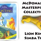 McDonalds Masterpiece Collection Lion King Simba Toy -