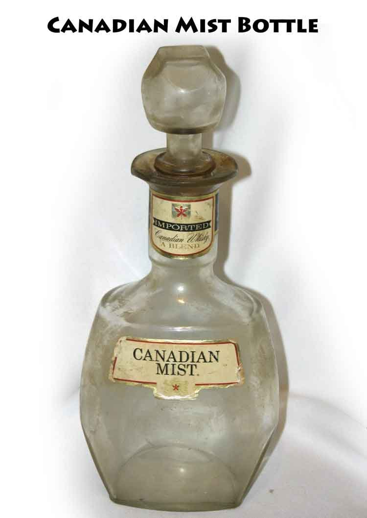 Vintage Canadian Mist Bottle -