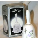 BONE CHINA DINNER BELL WHITE PASTEL FLOWERS NEW IN BOX