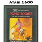 Sports for the Atari 2600 by Sears Telegames 1978