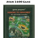 Atari 2600 Game - DEMONS TO DIAMONDS  1982 Version in Red Box CX2615