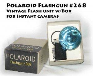 Polaroid Flashgun #268 Flash Unit -MInt w/Box