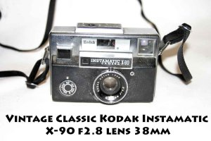 Vintage Classic Kodak Instamatic X-90 f2.8 lens 38mm