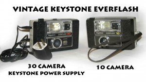 TWO (2) VINTAGE KEYSTONE EVERFLASH 10 CAMERA