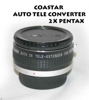 COASTAR AUTO TELE CONVERTER 2X FOR PENTAK K- MOUNT