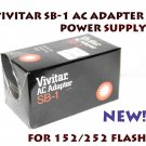 VIVITAR SB-1 AC ADAPTER POWER SUPPLY FOR 152/252 FLASH