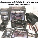 Nishika n8000 3d Camera + Flash, Case, and Manual
