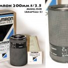 ! SOLD !  Tamron 200mm f/3.5 Model 04B (Adaptall-2 System) new old stock
