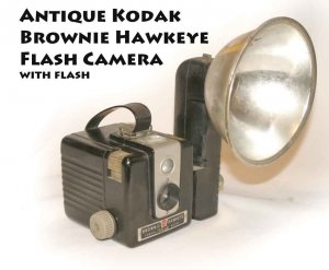 Antique Kodak Brownie Hawkeye Flash Camera