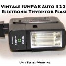 Vintage SUNPAK Auto 322S Electronic Thyristor Flash Unit Tested Working