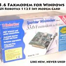 33.6 Faxmodem for Windows US Robotics model #1125 Int Modem Card
