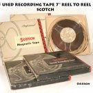 "5 USED RECORDING TAPE 7"" REEL TO REEL   SCOTCH"