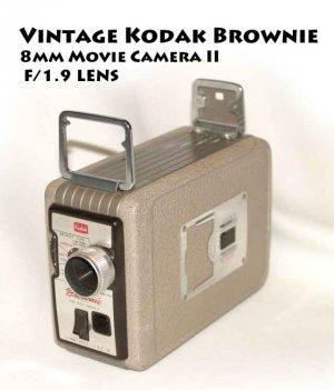 Vintage Kodak Brownie 8mm Movie Camera II  F/1.9 LENS