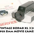 Vintage  VINTAGE KODAK XL 320 Super 8mm Movie Camera II  F/1.9 LENS
