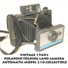 VINTAGE 1960's POLAROID FOLDING LAND CAMERA AUTOMATIC MODEL 210 COLLECTIBLE