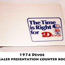 1974 Devoe  Dealer presentation counter book