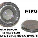 EXCELLENT! Nikon F1.8 50mm Series E Lens with 52mm UV(O) Filter