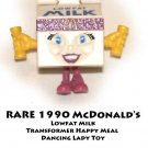 RARE 1990 McDonald&#39;s Lowfat Milk Transformer Happy Meal Dancing Lady Toy