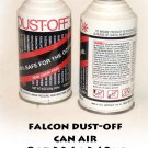 2 (two) cans of falcon dust-off can air  8oz  226g  249ml
