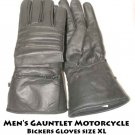Men's Gauntlet Motorcycle Bickers Gloves size XL