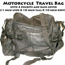Motorcycle  Travel Bag comes with rain cover  21 inch wide X 18 inch tall X 10 inch depth