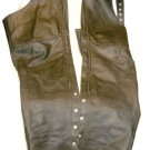 ATL Leather Motor Cycle Chaps  size L  Zipper & 1 Pocket