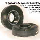 2 Rotary Carousel Slide Tray for Slide Projectors 100 - 2X2 Kodak Wards Sears