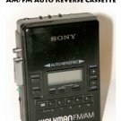 Sony Walkman AM/FM Auto Reverse Cassette Player Model# WM-AF62 - Used
