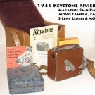 1949 Keystone Riviera Magazine 8mm K-45 Movie Camera, case, 3 Lens Lenses & more