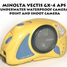 MINOLTA VECTIS GX-4 APS UNDERWATER WATERPROOF CAMERA POINT AND SHOOT CAMERA
