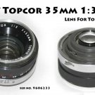 UV Topcor 35mm 1:3.5 Lens For Topcon filter ring is damaged
