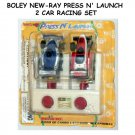 BOLEY NEW-RAY PRESS N' LAUNCH 2 CAR RACING SET