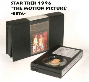 STAR TREK 1996 THE MOTION PICTURE -beta-NOT VHS OR DVD-need beta vcr to play