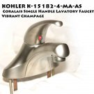 KOHLER K-15182-4-MA-AS  Coralais Single Handle Lavatory Faucet Vibrant Champage