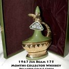 Vintage 1967 Jim Beam 175 Months Collector Whiskey Decanter Gold & Green
