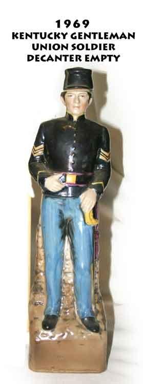 Sold 1969 Kentucky Gentleman Union Soldier Decanter Empty