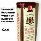 Tom Moore's 10 years old Kentucky Heritage Straight Bourbon Whiskey Barton Bardstown DISPLAY CAN