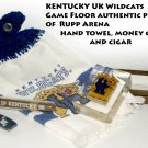 UK Kentucky WildcatsmRupp Arena floor, hand towel, money clip,  MAKERS MARK CIGAR TUBE