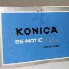 Konica EE-MATIC Deluxe Camera Instruction Manual, 1965: Original