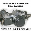 Pentax MX 35mm SLR Film Camera with a 1:1.7 50 mm lens