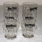 Set of 4 Vintage Early Times Whiskey Rocks Glasses-Libbey Dura Tuff USA 12 oz