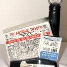 Jim Beams  11th Anniversary ANTIQUE TRADER Bourbon Bottle Decanter 1968