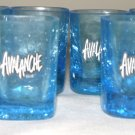 Avalanche Glass Original Blue Shot Glasses 6 total